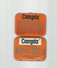 Compoz Aspirin Type Tin The Size of a 12 Tablet.  Bright of Color & Clean