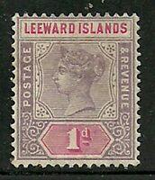 Album Treasures Leeward Islands Scott # 2  1p Victoria Mint Hinged