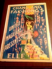 Original Chang and Fak-Hong's / Elle. ca. 1922  Art Deco Magic Posters