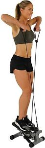 Mini Stepper with Resistance Bands Sunny Health & Fitness