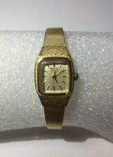 Working 1982 Seiko Ladies Wrist Watch 5421 5029 Gold Tone Women Estate Vintage