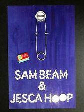 Sam Beam & Jesca Hoop -Live At Fingerprints 5/2/16 Concert Poster LTD Orig Press