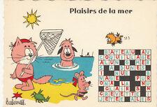 Carte postale HUMORISTIQUE HUMOUR BARBEROUSSE plaisirs de la mer