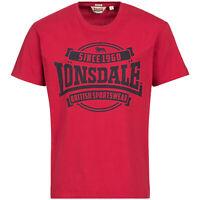 "LONSDALE LONDON T-Shirt ""Necton"" | Dark Red (1137672007) Herren Regular Fit Logo"