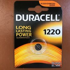 Duracell CR1220 3 Volt Lithium Coin Cell Battery 1220 DL1220 Longest Expiry