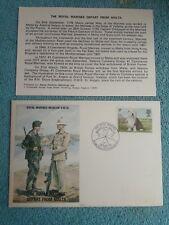 Enveloppe Premier Jour FDC Royal marines museum R.M 20 Depart from Malta 1979