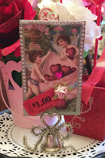 To My Valentine Stand-Up Home Decor DIY Project KIT Papercrafting Vintage card