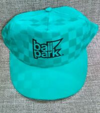 green and black ball park snapback hat