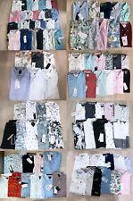 Denim and Flower Men's Slim Fit Button Front Casual Short Sleeve Shirt S/M/L/XL