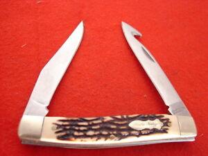 "Schrade Uncle Henry 3-7/8"" 877UH PRO SKINNER Muskrat Linerlock Knife"