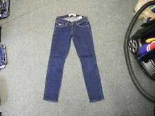 "Hollister Skinny Jeans Waist 25"" Leg 27"" Faded Dark Blue Ladies Jeans"