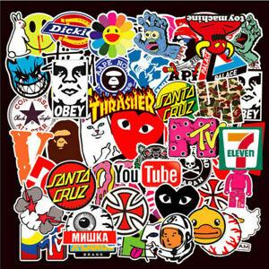 101pcs HYPEBEAST Brand Sticker Pack Supreme Bape Stussy Vinyl Skateboard Laptop