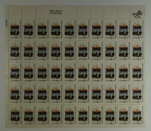US SCOTT 1420 PANE OF 50 THE LANDING OF THE PILGRIMS STAMPS 6 CENT FACE MNH