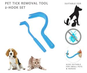 2 Hook Set Pet Tick Hook Remover - Dog Horse Rabbit Twist Removal Tweezer Bulk