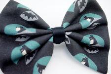 Batman The Dark Knight Medium Fabric Hair Bow Superhero Geeky Hair Clip