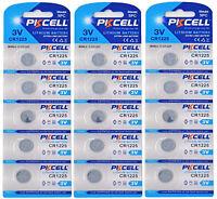 15 x CR1225 3V Lithium Knopfzelle 50 mAh ( 3 Blistercard a 5 Batterien )PKCELL