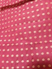 RED FABRIC WITH  SMALL CIRCLE & DOTS EMBROIDERED design 1 yards plus  22""