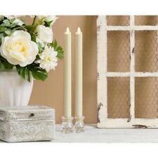 Luminara Real Flame Effect Moving Wick Unscented Classic Taper Candle/Wedding