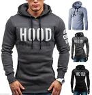 Men Winter Slim Hoodie Warm Pullover Sweatshirt Hooded Coat Outwear Sweater Tops