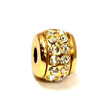 Brighton Mini Stone Stopper Bead J98041, Gold Finish, New
