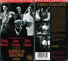 Zombies on Broadway VHS Video Tape New Wally Brown Bela Lugosi RKO Collection
