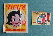VERY RARE 1978 AMERICANA GERMANY HEIDI MOVIE ACHTUNG 3 STICKER UNOPENED PACK +1