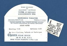 "Len Cariou ""NIGHT WATCH"" Joan Hackett / Keene Curtis 1972 Broadway Ticket Stub"