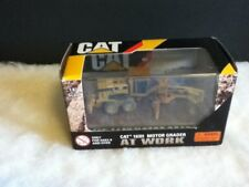 Cat 163H Motor Road Grader Norscot Caterpillar 1:87 Construction Toy AT WORK Box
