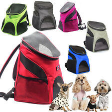 Portable Outdoor Cat Dog Pet Double Shoulder Mesh Bag Backpack Travel Carrier UK