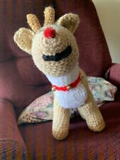 Handcrafted Crochet RUDOLPH Stuffed Toy/Doll/Decoration