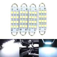 4pcs 44mm 12-SMD Rigid Loop White Festoon LED Door Interior Dome Light Bulbs 12V