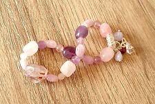 Oneness Ascension Reiki Healing Nugget Bracelet Sacred Super 7 Kunzite Herkimer