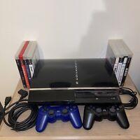 PlayStation 3 Fat 80GB CECHE01 PS3 PS2 Backwards Compatible Console Bundle
