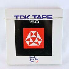TDK TAPE 150-7 Sound Recording 555m (1800ft) Japan Electronics FACTORY SEALED