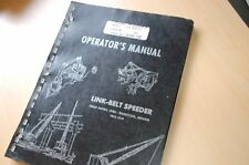 FMC LINK BELT 200 Series Speeder Truck Crane Owner Operator Operation Manual