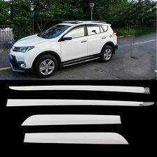 Stainless Steel Body Door Side Molding Garnish Trim For Toyota RAV4 2014-2017