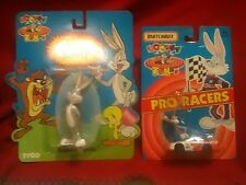 1993 Tyco Matchbox Looney Tunes Pro Racers Bugs Bunny Diecast Car and Figure Lot