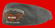 Harley Davidson  Men's Flame Graphic Grey Ivy Cap (L) HAT