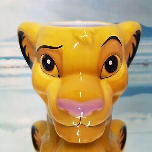 Lion King Mug Simba Embossed 3D Face Head Shaped Ceramic New Official Disney