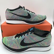 New Nike Flyknit Racer Multicolor Size 12.5 US 526628 304 NEW FREE SHIPPING