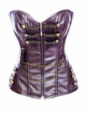 Unbranded Leather Basques & Corsets for Women with Overbust