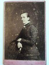 Large Victorian Cabinet Card Photograph (CDV) - Tunny - Edinburgh  - Lady