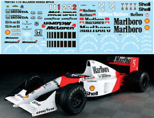 1/12 MCLAREN MP4/6 FOR TAMIYA FULL AYRTON SENNA DECALS TB DECAL TBD183