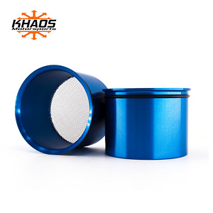 Dodge Challenger Head Light Intake Ring Anodized Blue