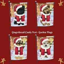 Christmas Gingerbread Candyfest Dog Cat Pet Photo Decorative Garden Flag