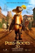 Puss In Boots movie poster print  :  11 x 17 inches : Antonio Banderas poster