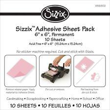"Sizzix 6""X6"" Adhesive Sheets 10/Pkg"