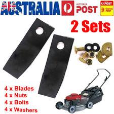"2 Set Lawn Mower Blades&Bolts Kit For 19"" Honda HRU19R HRU19D HRU194/195/196/197"