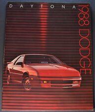 1988 Dodge Daytona Catalog Brochure Shelby Z Pacifica Excellent Original 88