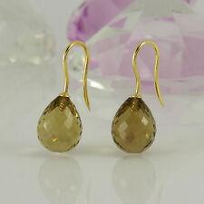 Markenloser Ohrschmuck mit Edelsteinen aus Gelbgold für Damen